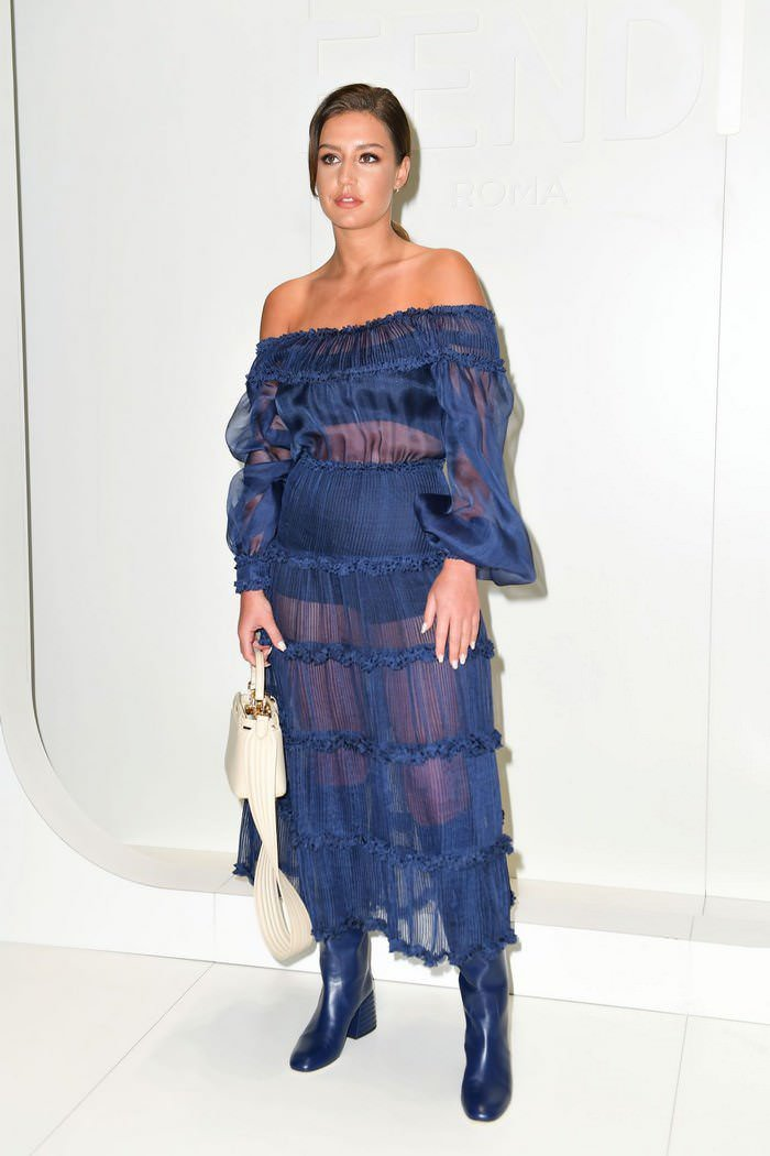 Adele Exarchopoulos at Fendi Fashion Show in Milan
