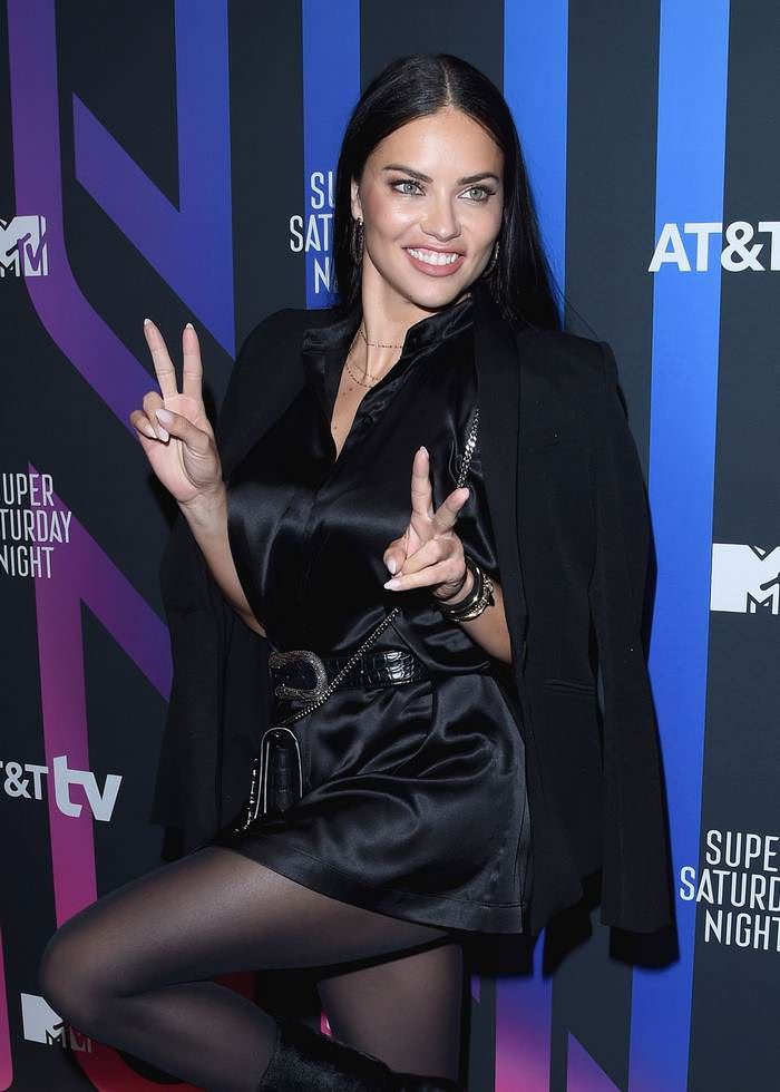 Adriana Lima Attends AT&T TV Super Saturday Night in Miami