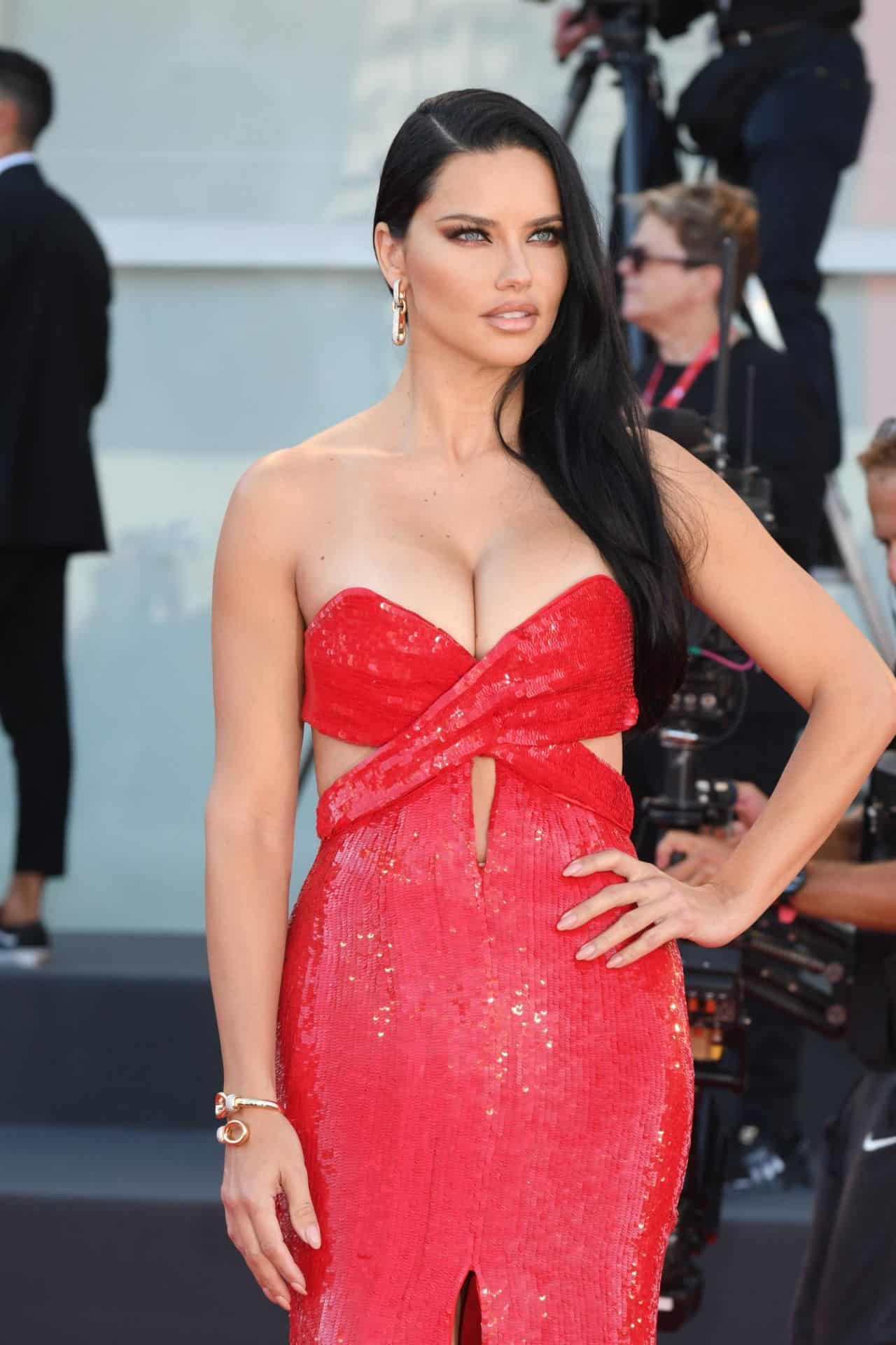 """Adriana Lima on the """"Madres Paralelas"""" Red Carpet at the 78th Venice International Film Festival"""