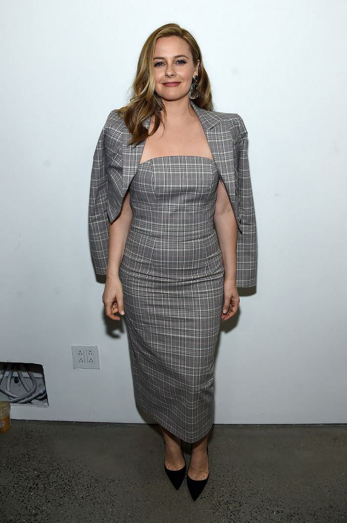 Alicia Silverstone Attends the Christian Siriano show at NY Fashion Week