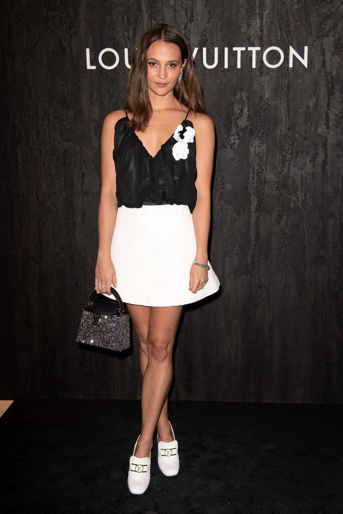 Alicia Vikander at Louis Vuitton Launch at Paris Fashion Week