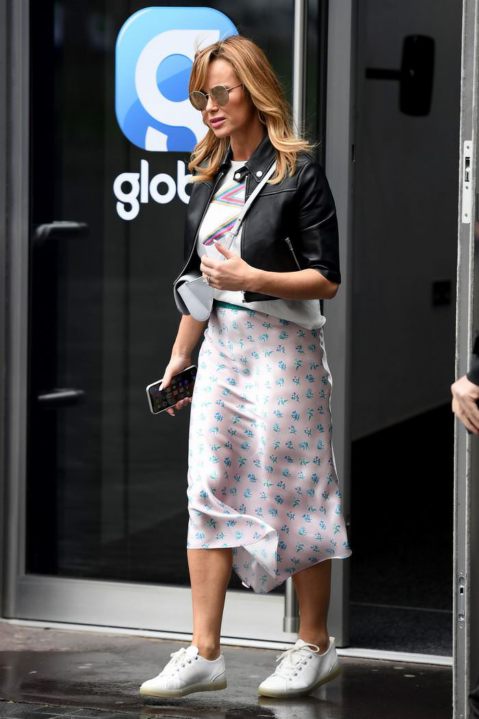 Amanda Holden Leaves Global House in London