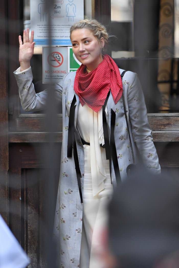 Amber Heard Outside the Royal Courts of Justice in London