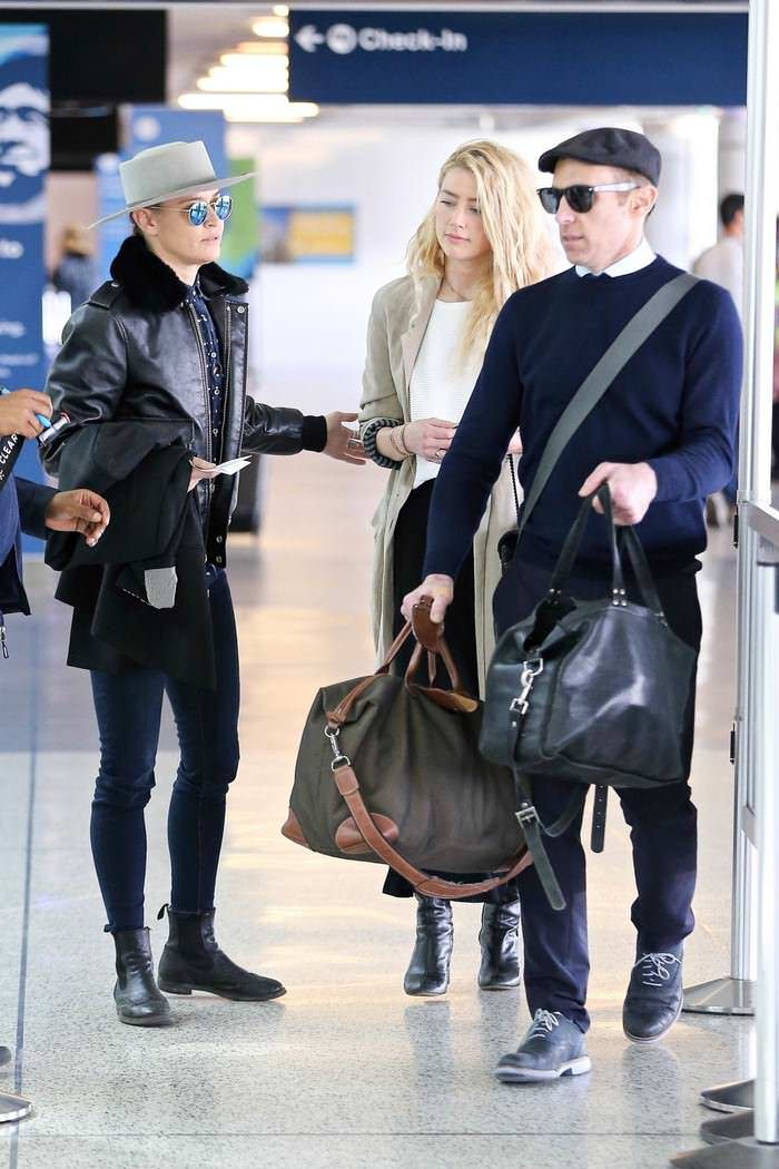 Amber Heard With Girlfriend at LAX Airport in LA