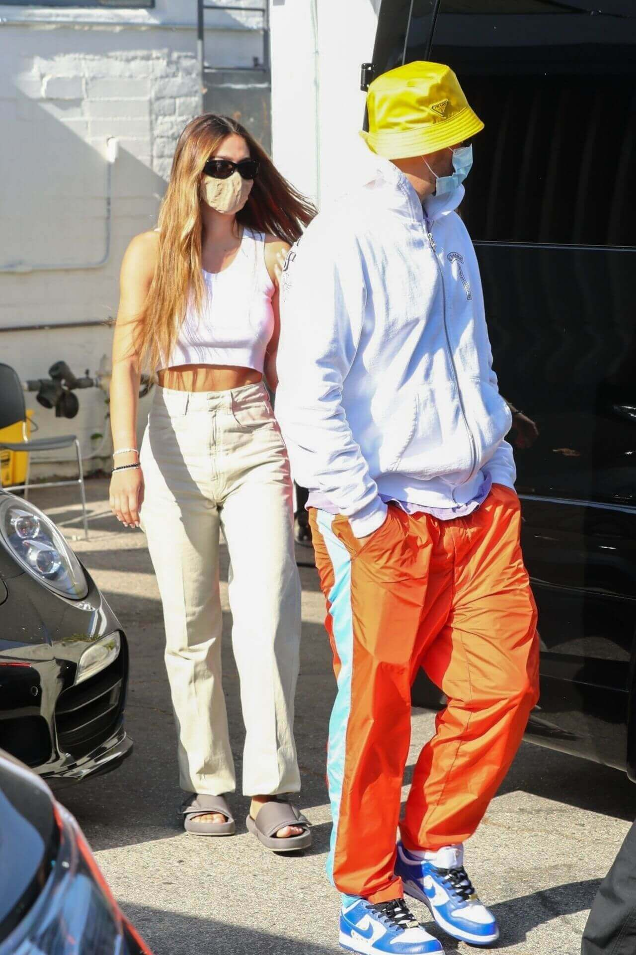 Amelia Hamlin and Scott Disick Outside a Hair Salon in Beverly Hills