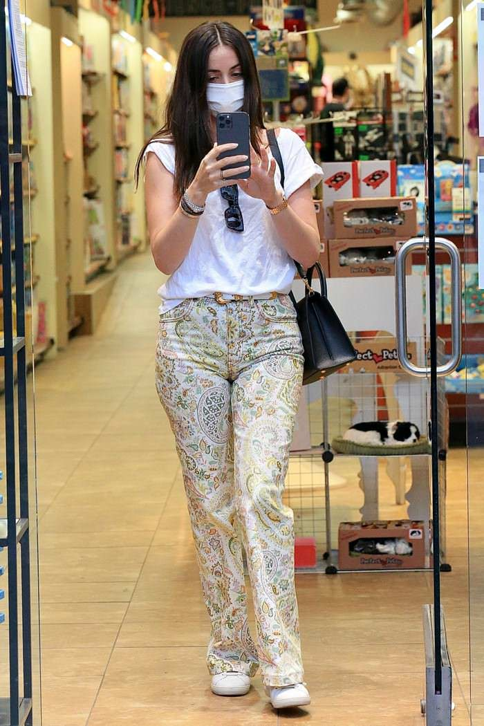 Ana de Armas Wore Paisley Jeans While Shopping in Santa Monica