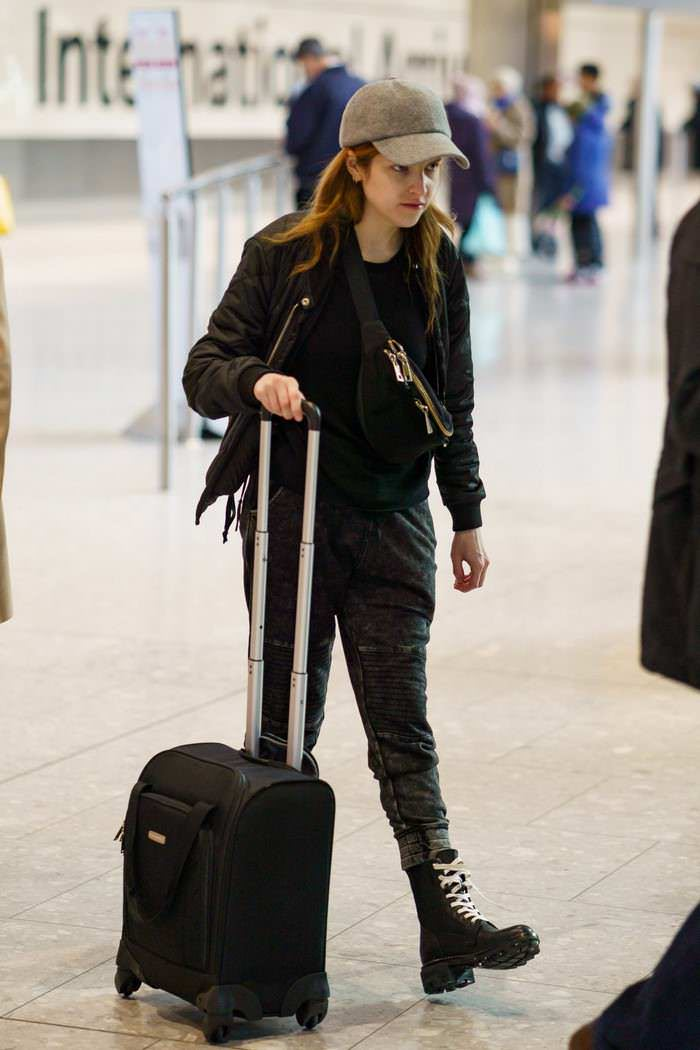 Anna Kendrick at Heathrow Airport in London