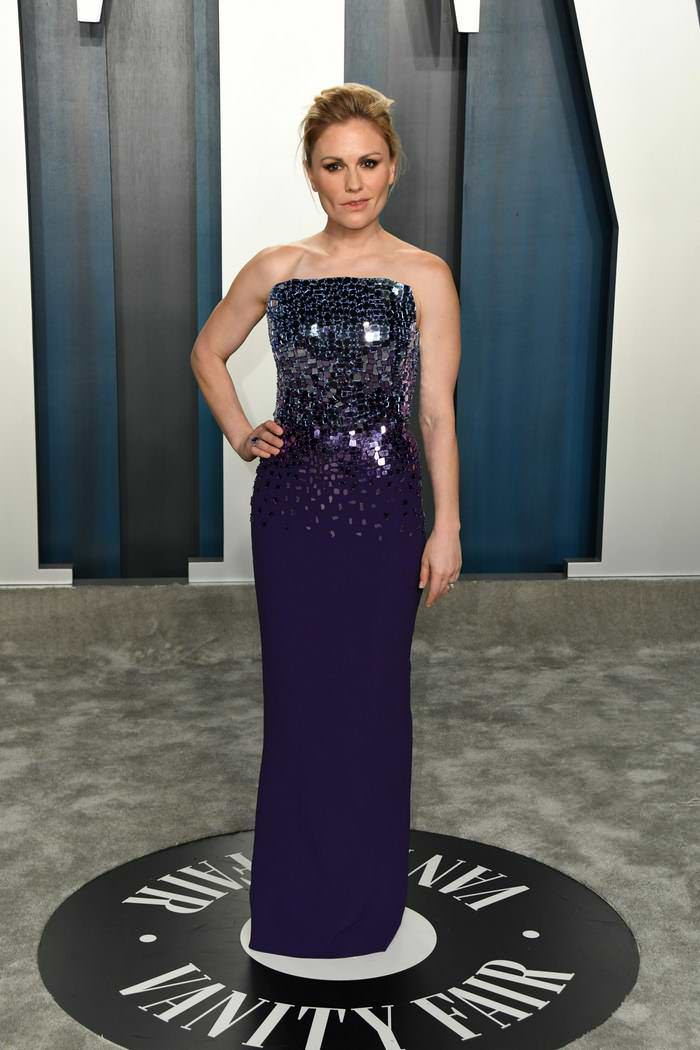 Anna Paquin at 2020 Vanity Fair Oscar Party in Los Angeles