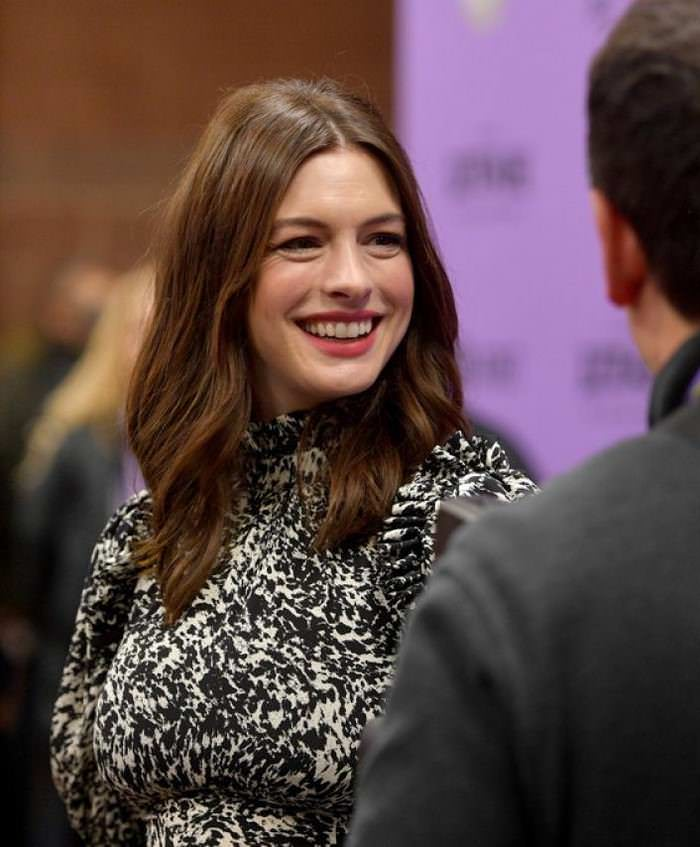 Anne Hathaway at The Last Thing He Wanted Premiere at Sundance Film Festival
