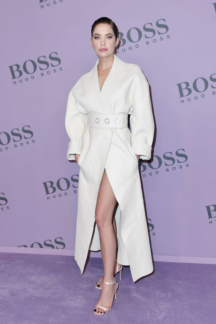 Ashley Benson Attends the BOSS Show at Milan Fashion Week