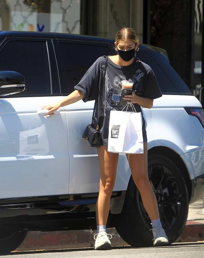 Ashley Tisdale Displays Her Legs In Short Cycling Shorts