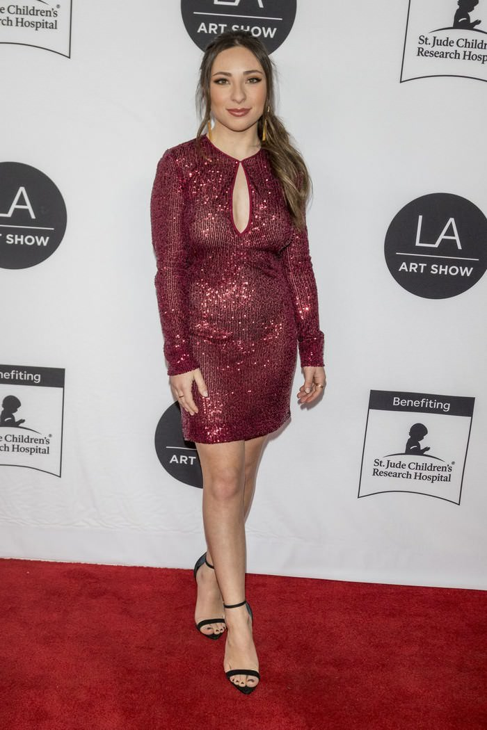 Ava Cantrell at Los Angeles Art Show 2020 Opening Night Gala in LA