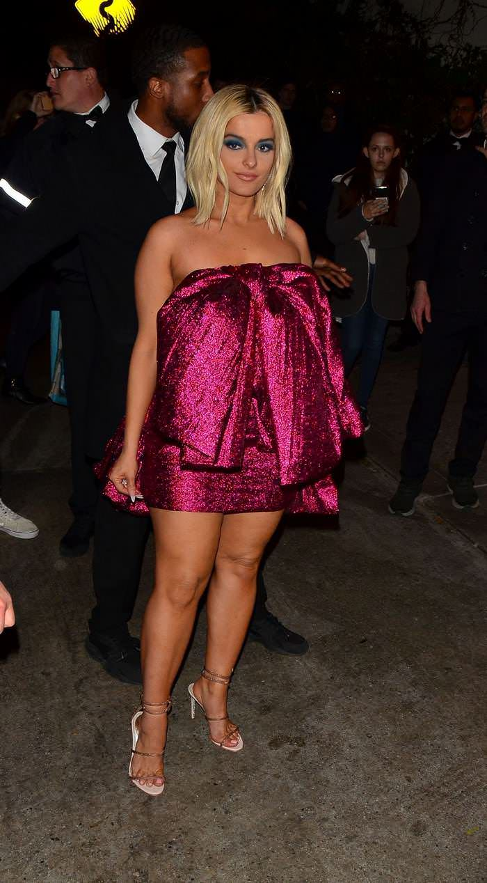Bebe Rexha Arriving at Chateau Marmont for the Golden Globes After-Party