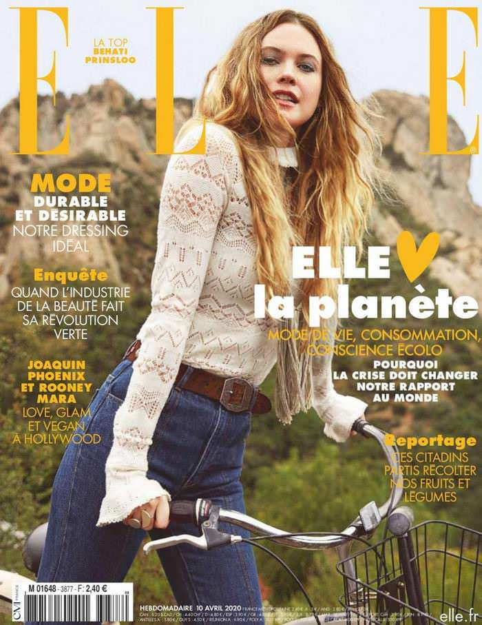 Behati Prinsloo Gracing the Cover of ELLE Magazine 2020
