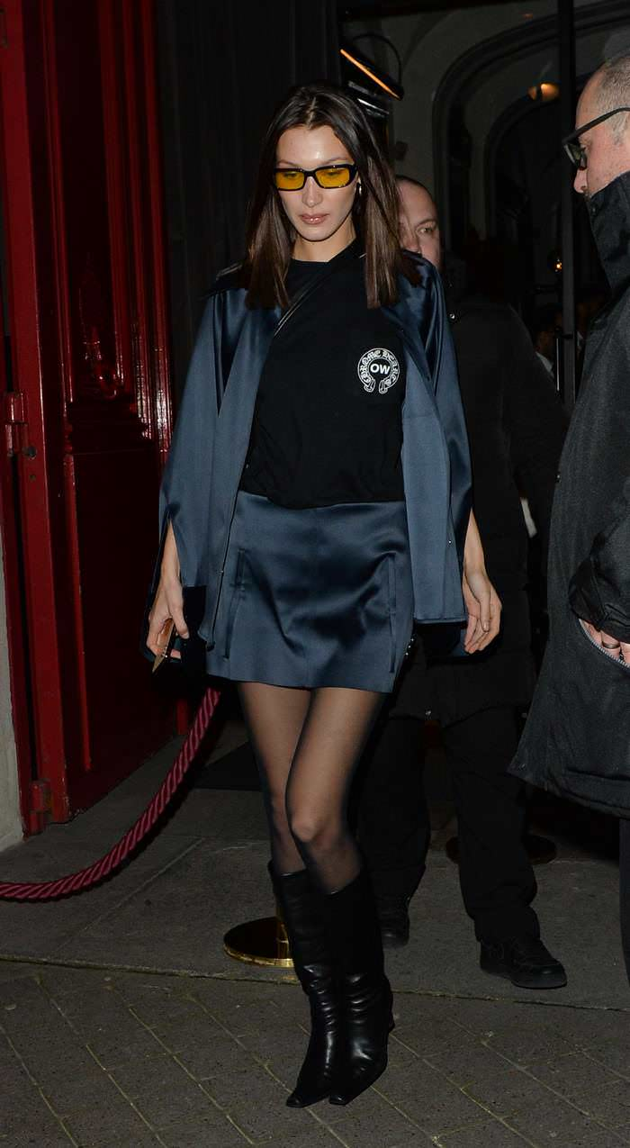 Bella Hadid Leaving the Off White Event at PFW