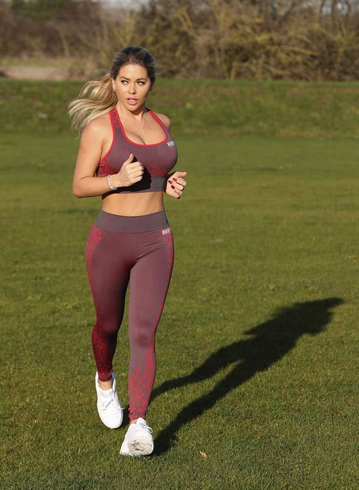 Bianca Gascoigne Training at Bootcamp in Wales