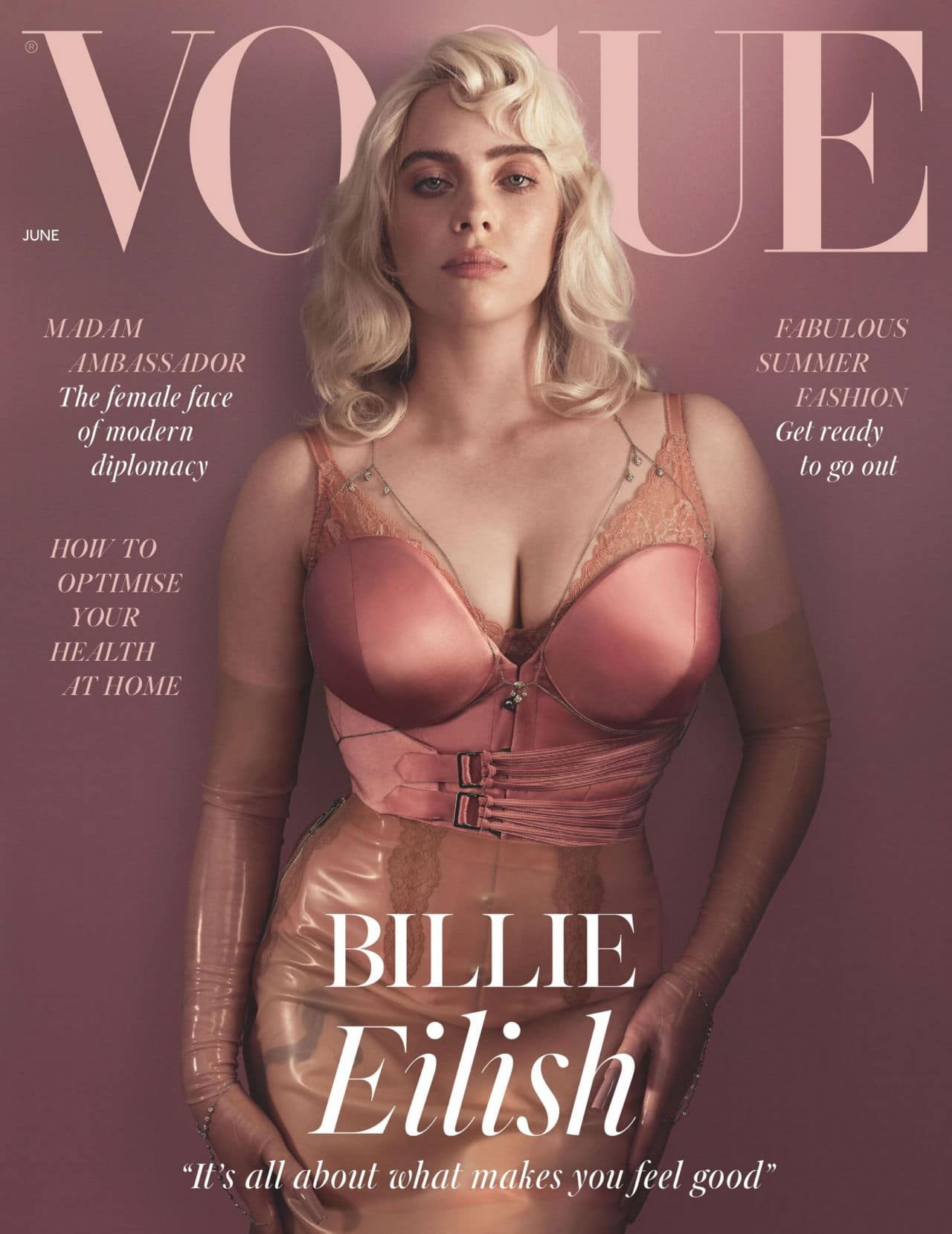 Billie Eilish on the Cover of Vogue UK June 2021 Issue