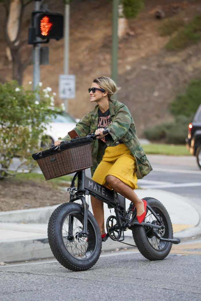 Brittany Furlan and Tommy Lee Ride Electric Bikes Through Los Angeles