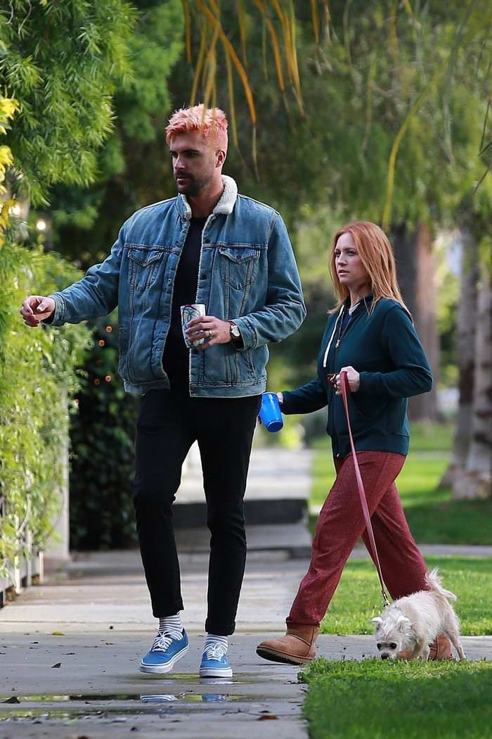 Brittany Snow and Tyler Stanaland Out in LA