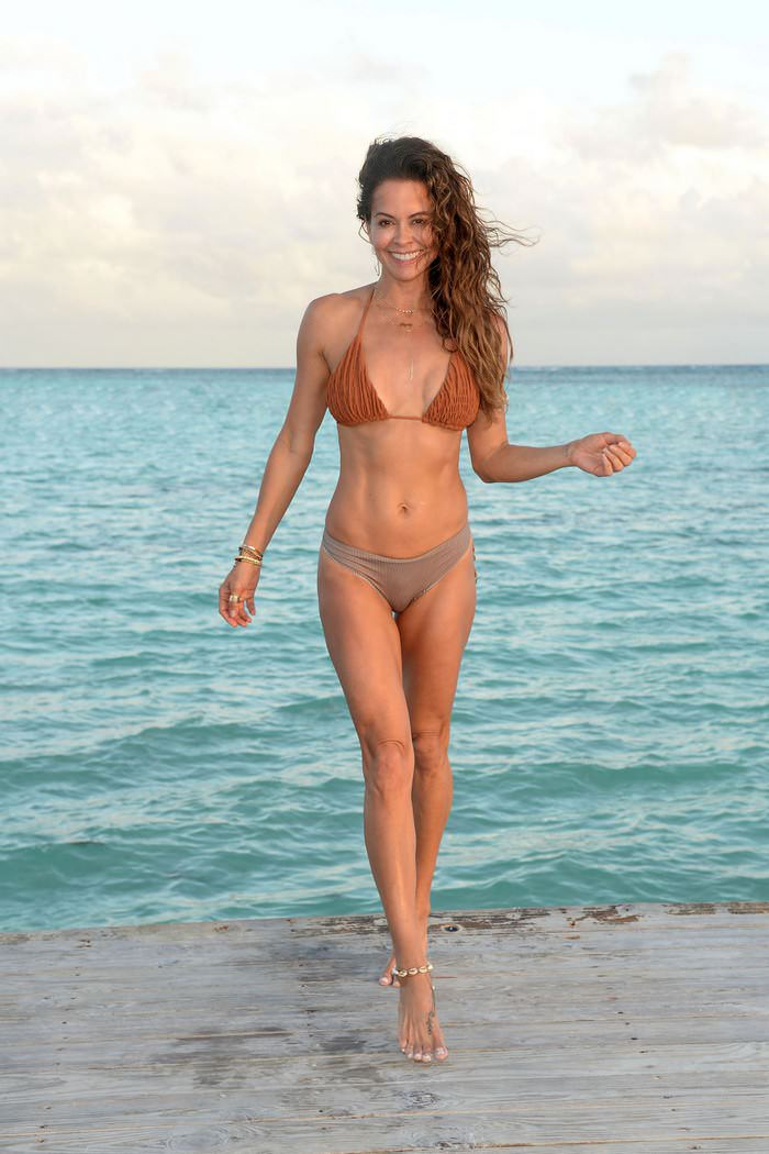 Brooke Burke Enjoying in Cap Cana