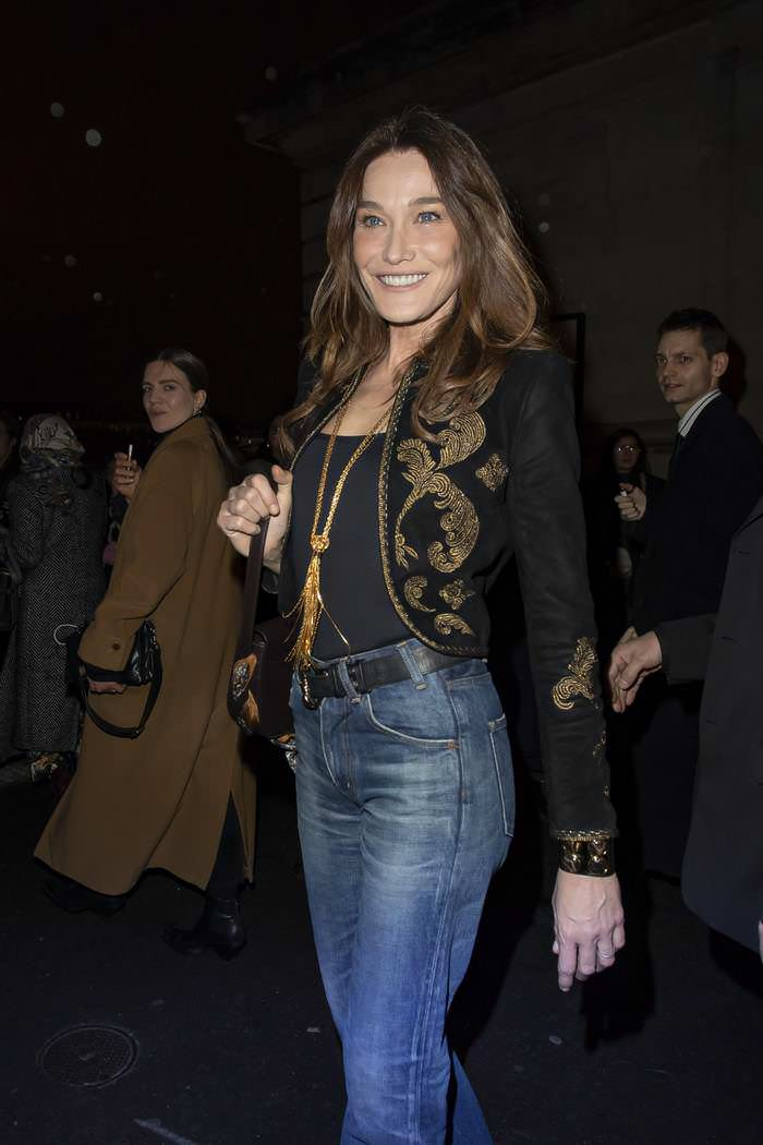 Carla Bruni at Celine Show at Paris Fashion Week