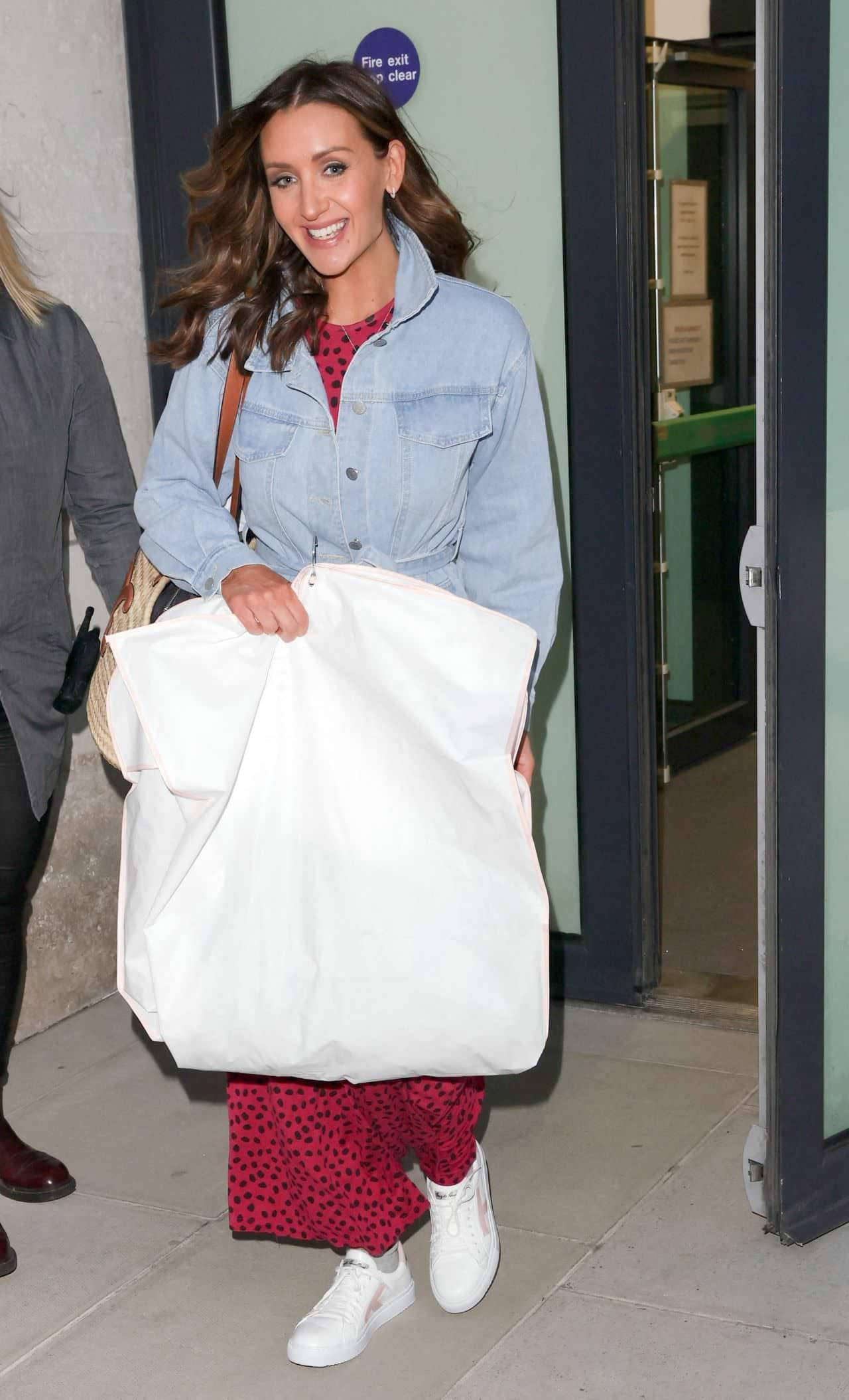Catherine Tyldesley Stepped Out to Run Some Errands