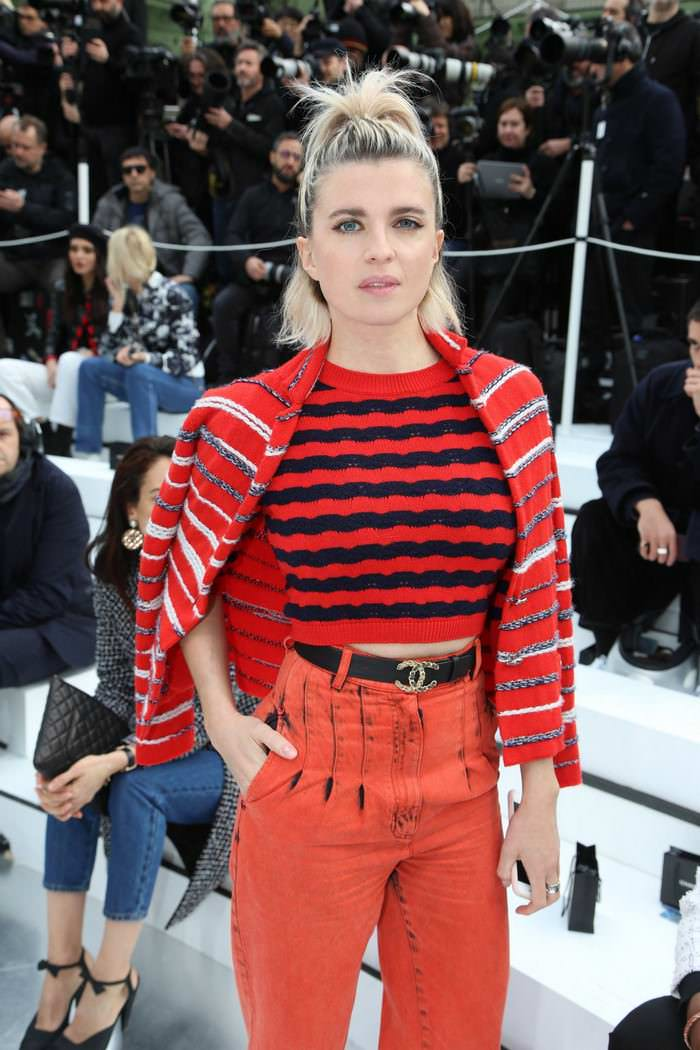 Cecile Cassel Attends Chanel Show at PFW
