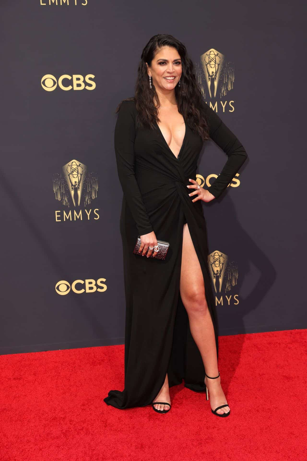 Cecily Strong Attends the 73rd Primetime Emmy Awards at L.A. LIVE in LA