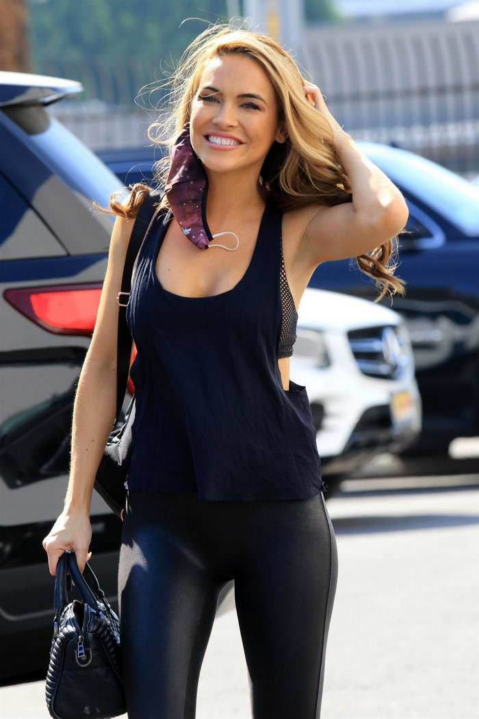 Chrishell Stause All Smiles as She Heads to DWTS Rehearsal in LA