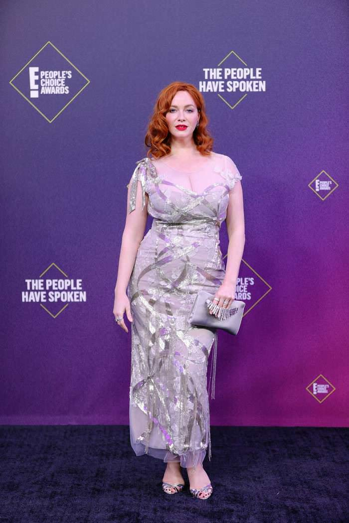 Christina Hendricks Wowed All In Marchesa Dress At The 46th People's Choice Awards