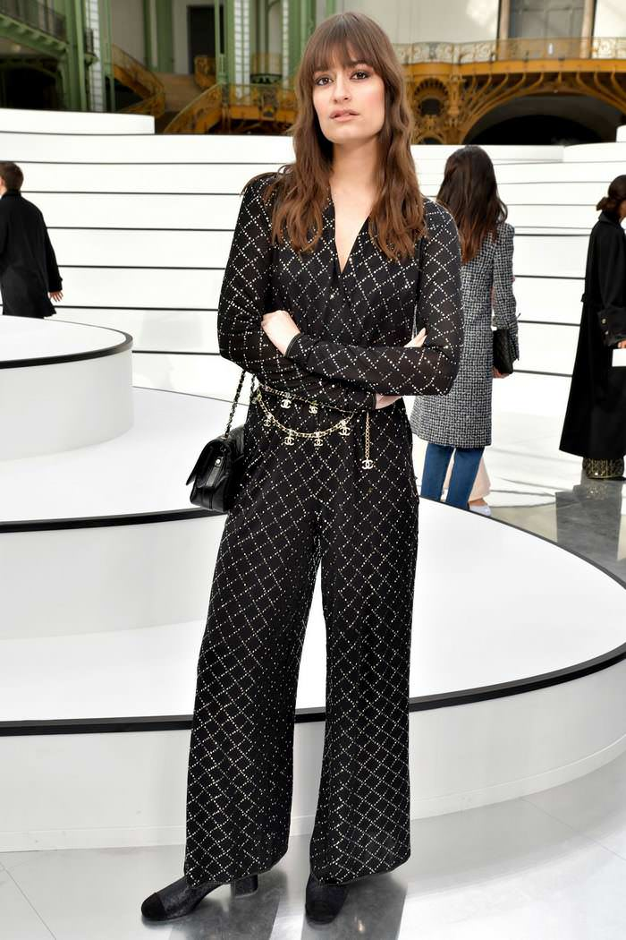 Clara Luciani at Chanel Show at Paris Fashion Week