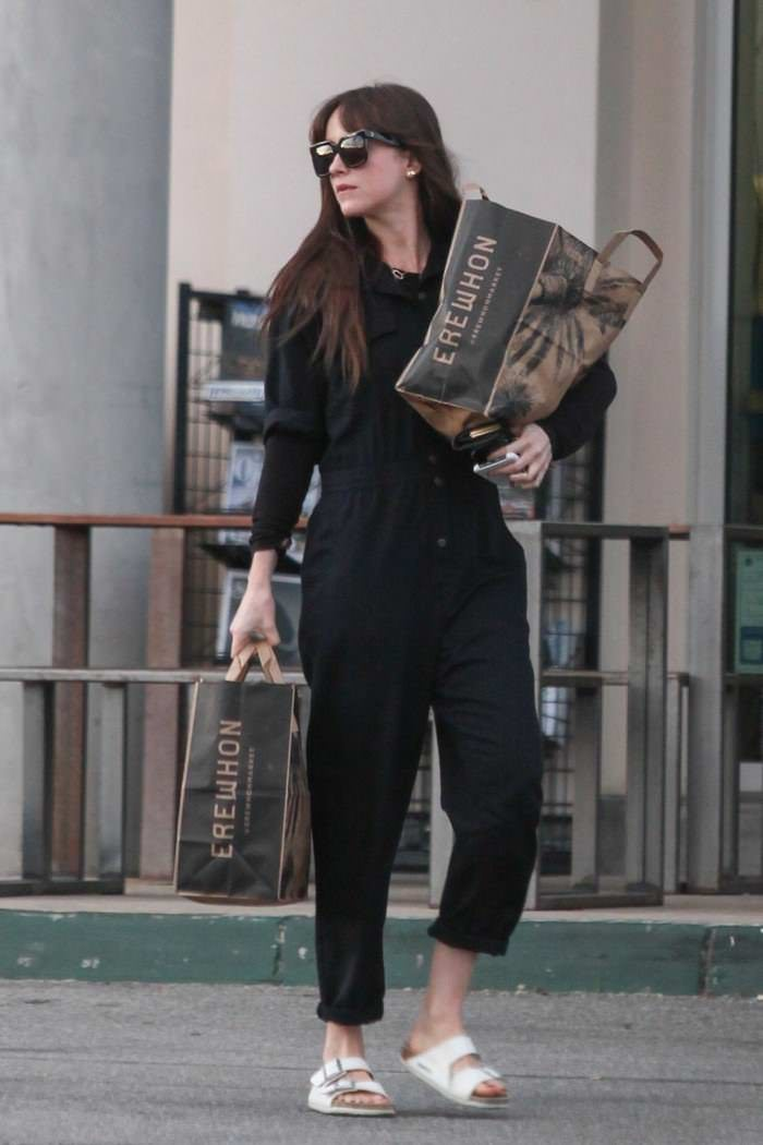 Dakota Johnson Grocery Shopping at Erewhon Market in LA