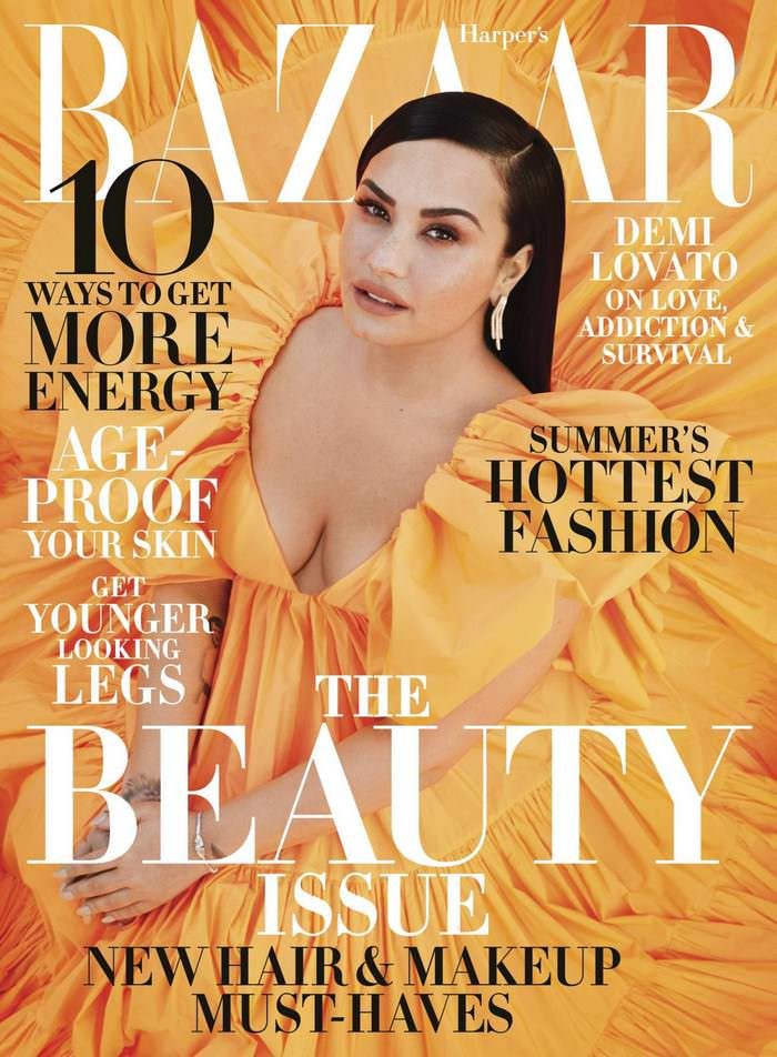 Demi Lovato Modeling for Harper's Bazaar May 2020