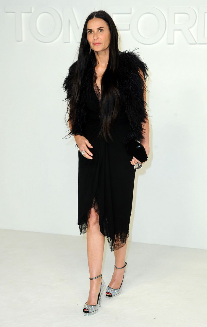Demi Moore at Tom Ford 2020 Fashion Show at Milk Studios in Los Angeles