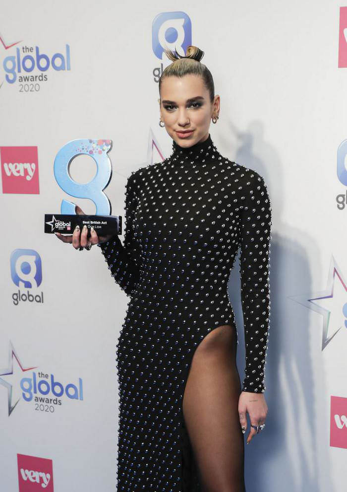 Dua Lipa Looked Incredible at The Global Awards 2020