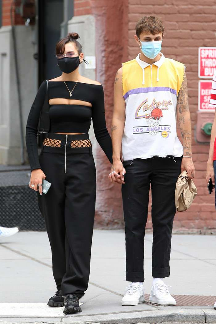 Dua Lipa Shows her Newly Dyed Hair as She Steps Out with BF