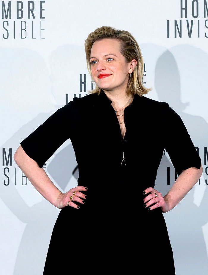 Elisabeth Moss Effortlessly Style at The Invisible Man Premiere in Madrid