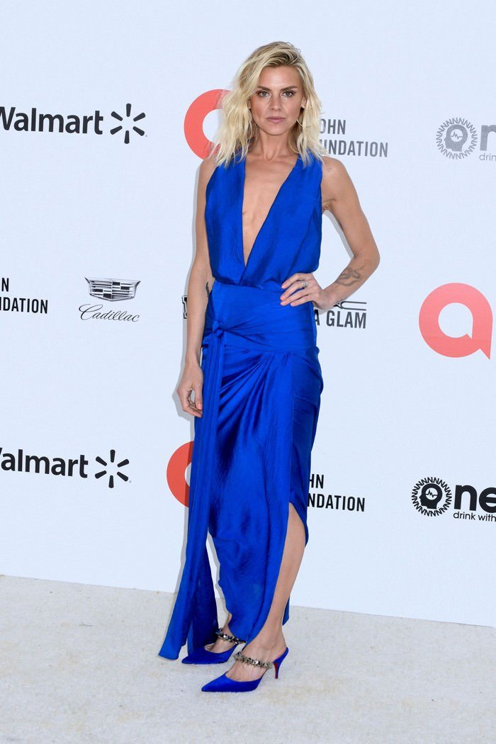 Eliza Coupe at Elton John AIDS Foundation Oscar 2020 Party in LA