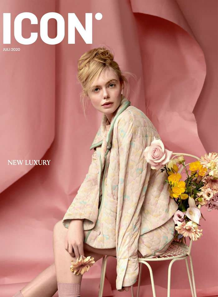 Elle Fanning in Icon Magazine July Issue 2020
