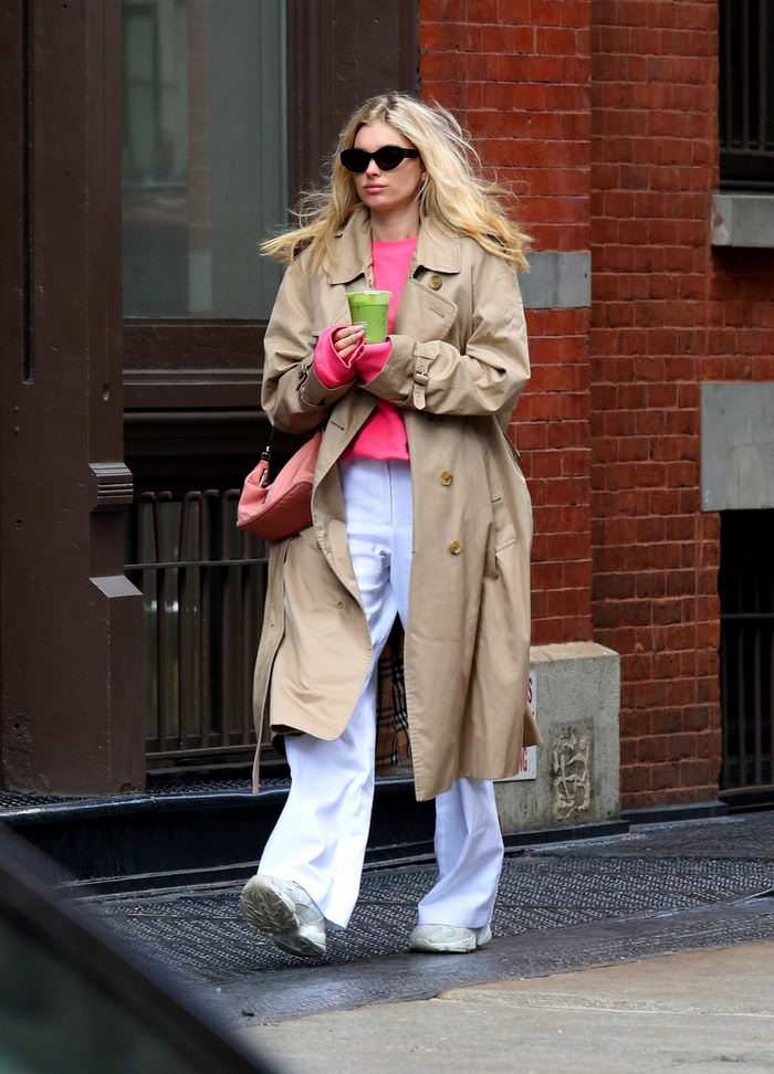 Elsa Hosk in Casual Outfit Out in New York City