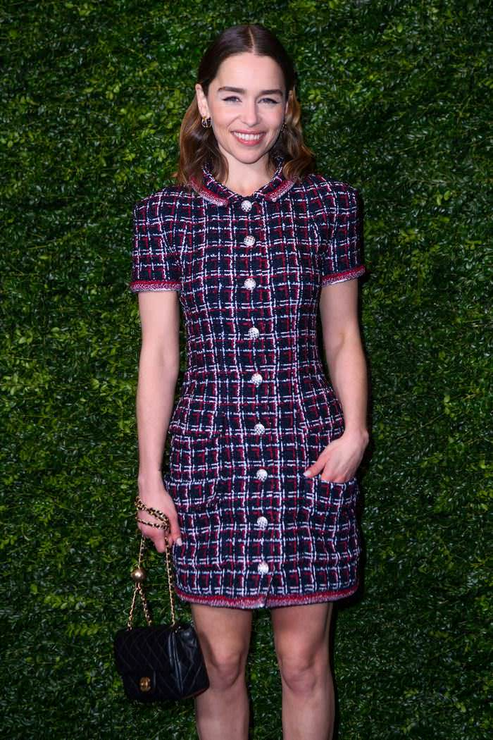 Emilia Clarke at Charles Finch and Chanel Pre-Bafta Party in London