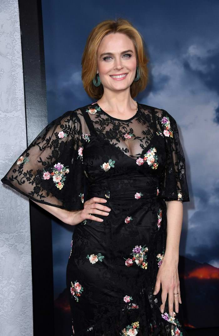 Emily Deschanel at Apple's Mythic Quest: Raven's Banquet Premiere in Hollywood