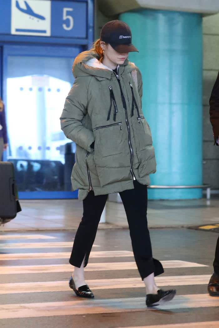 Emma Stone Arriving at Athens International Airport
