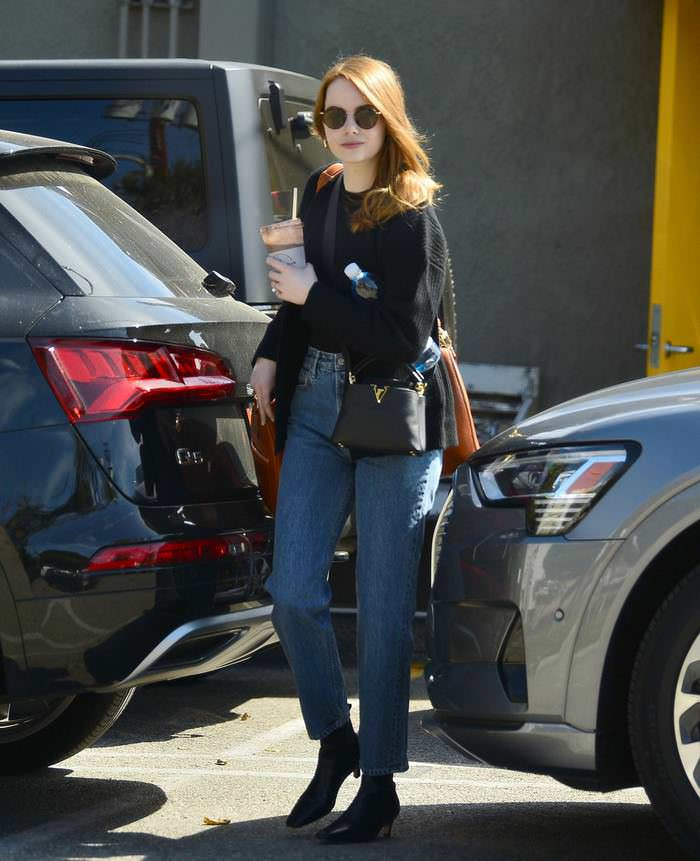 Emma Stone Leaves the Gym in Los Angeles