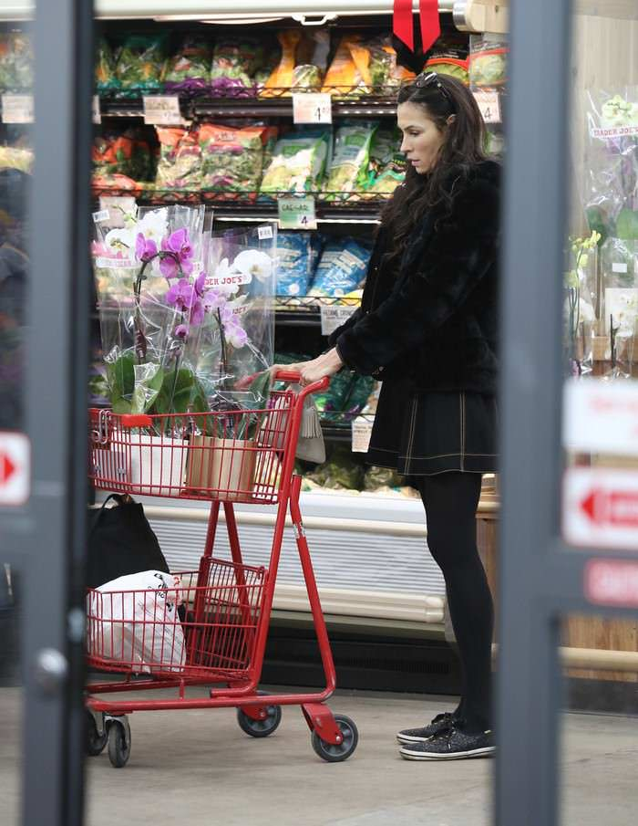 Famke Janssen Shopping in NYC