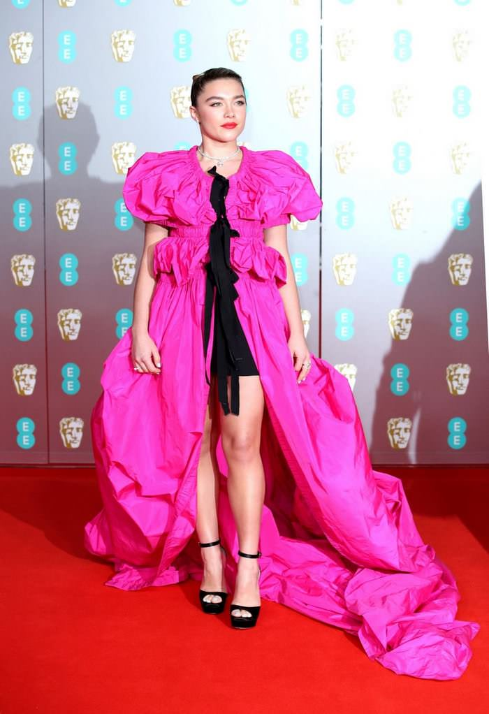 Florence Pugh at EE British Academy Film Awards at Royal Albert Hall in London