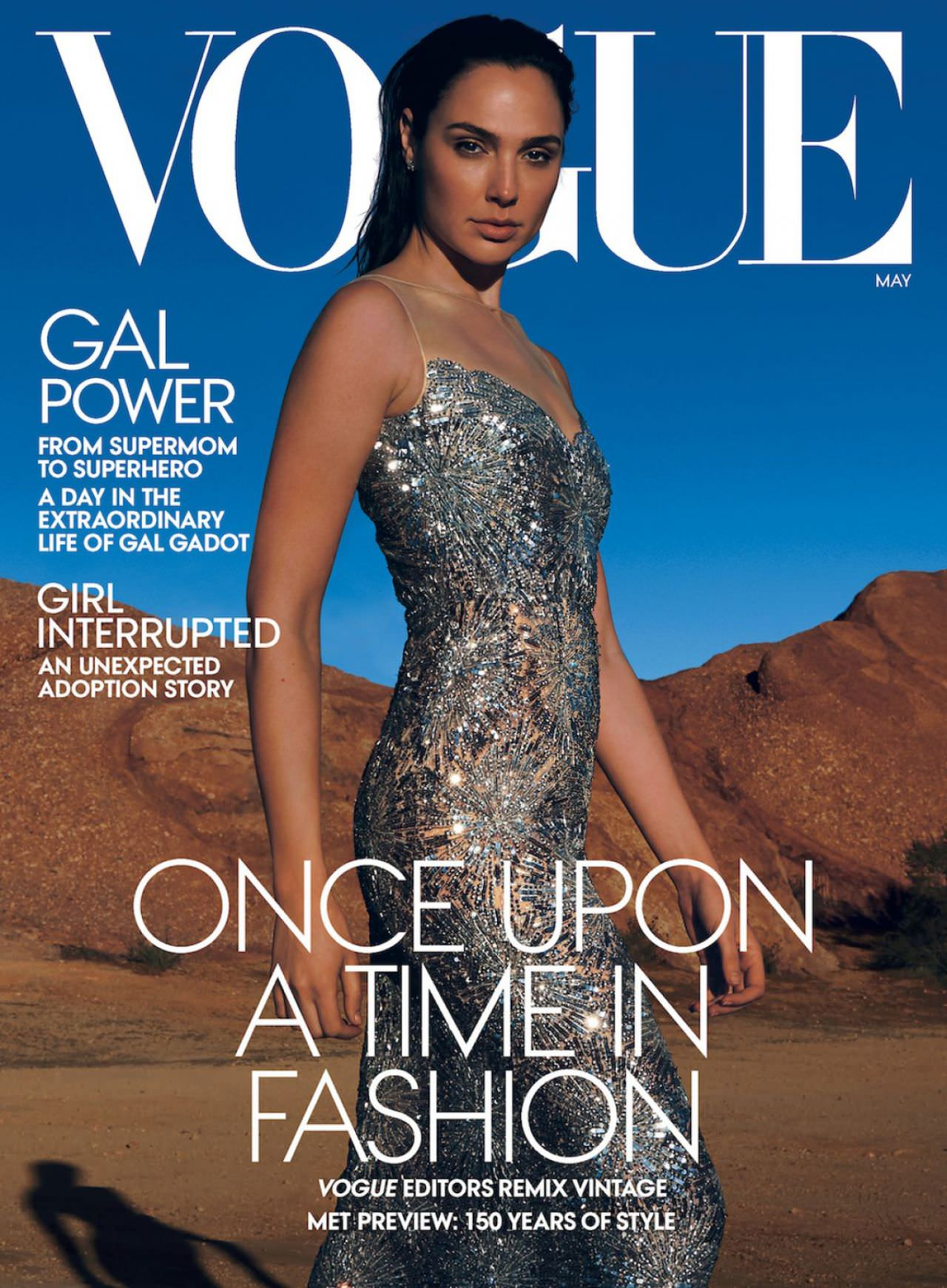 Gal Gadot Posing for the May 2020 Cover of Vogue