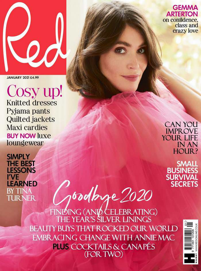 Gemma Arterton on the Cover of Red Magazine January 2021 Issue