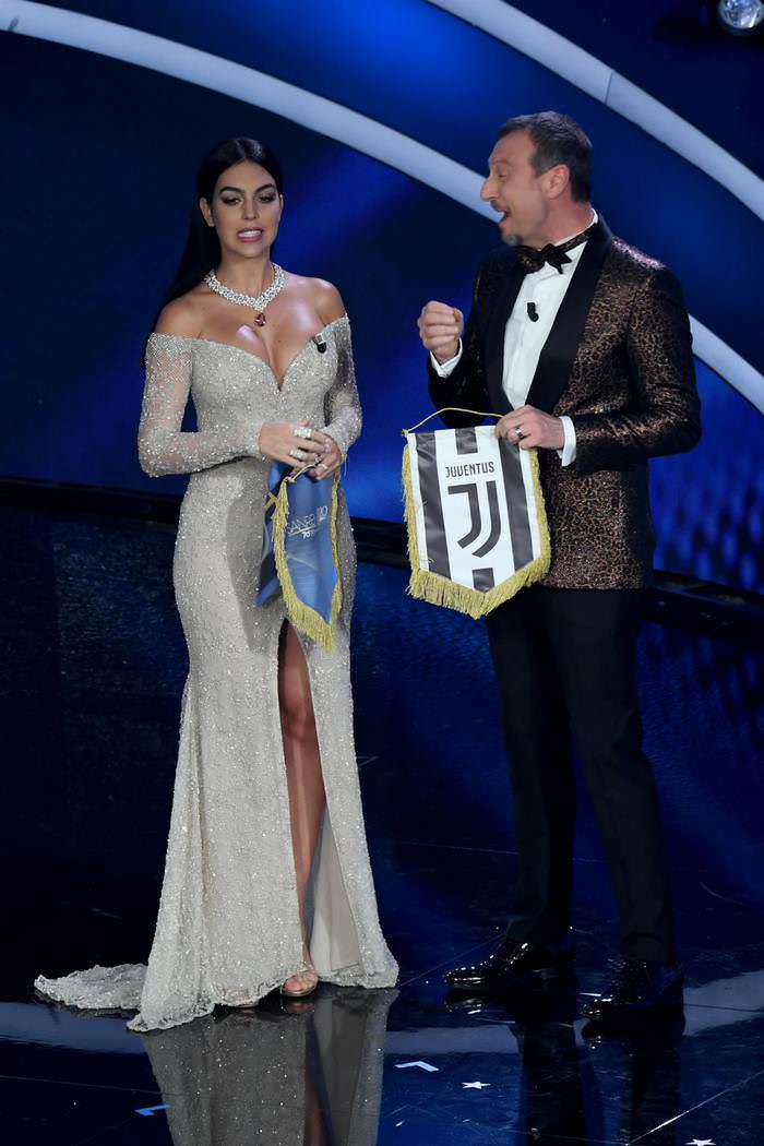 Georgina Rodriguez at 70th Italian Sanremo Song Festival