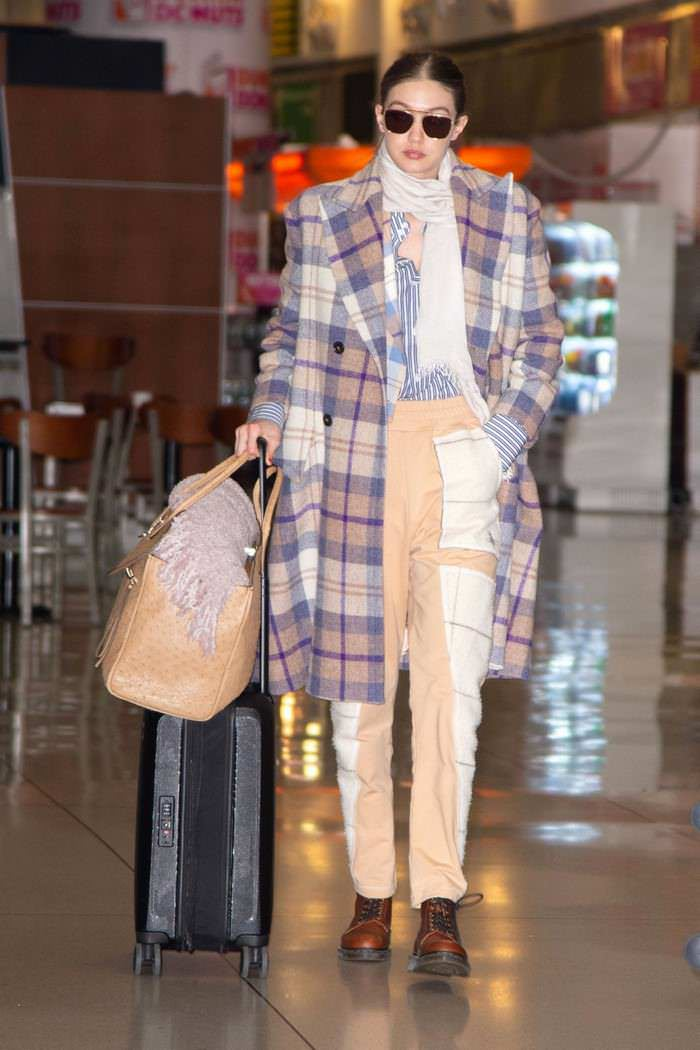 Gigi Hadid Arrives Back in NY from PFW